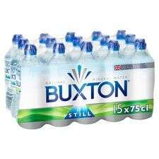 Buxton Still Water 15X75cl Pack £3.75 @ Tesco (limited store/online availability)