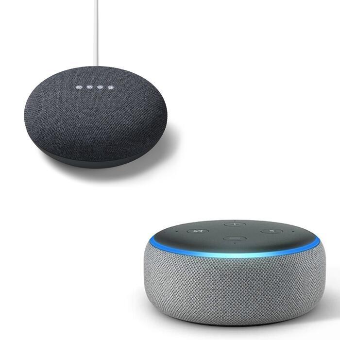 Google Nest Mini 2nd gen + Amazon Echo Dot 3rd gen = £32.99 with code @ Currys PC World