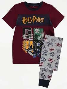 Harry Potter Burgundy Pyjamas All sizes available £5 + Free Click and Collect @ George (Asda)