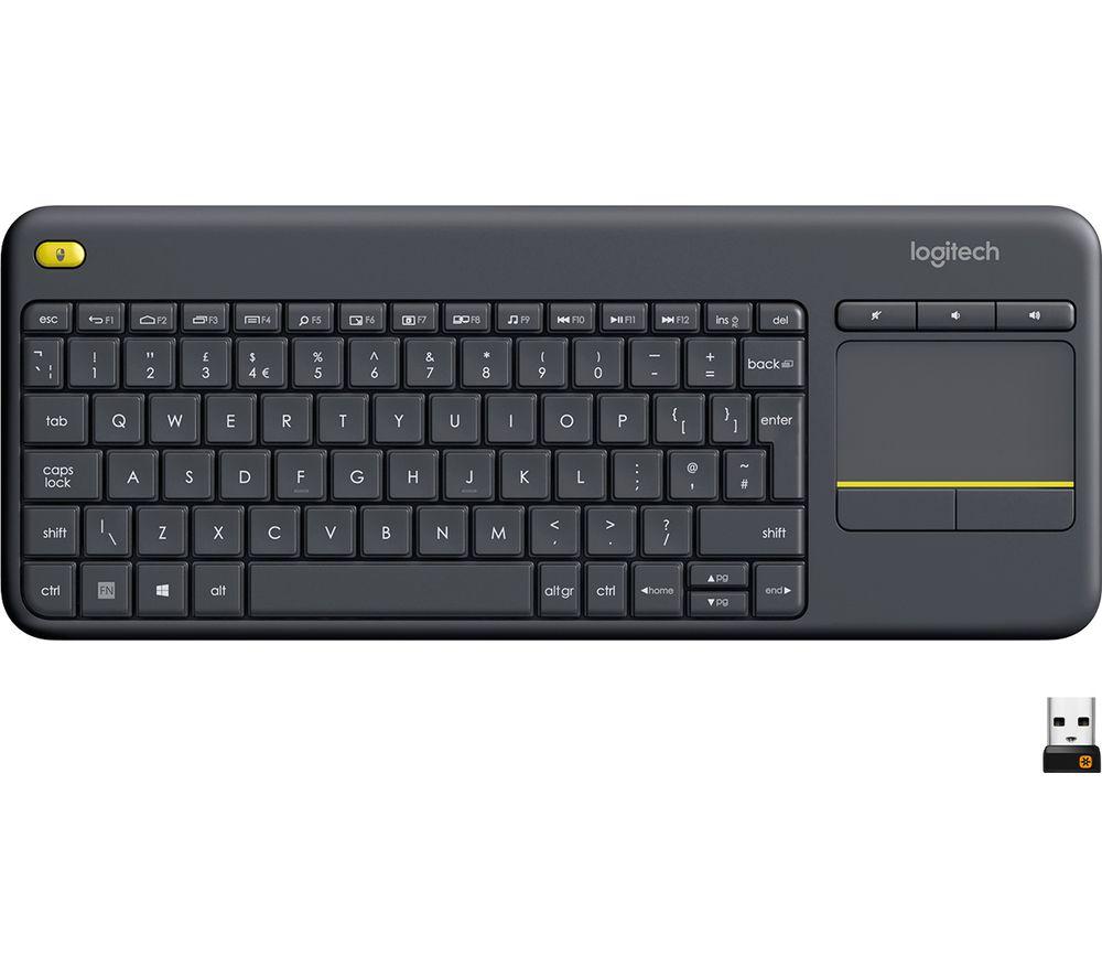 Logitech K400 Plus Wireless Keyboard - Dark Grey - £17.49 delivered @ Currys PC World