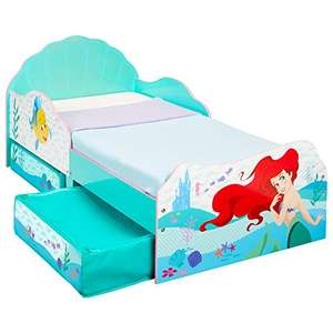 HelloHome Disney Princess Ariel Kids toddler bed (143cm x 77cm x 63cm) in aqua, with fabric storage drawers for £105.99 delivered @ Amazon