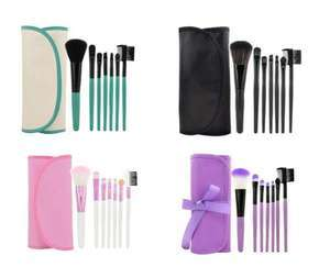 LAROC 7 Piece Make-up Brush Set £3.50 in 4 colours with Free Delivery From LAROC