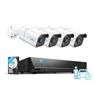 Reolink PoE 4K UHD CCTV System , Smart Detection, 4X 8MP Outdoor PoE IP Cameras + 8ch 2TB NVR £387.79 (Prime) @ Amazon / ReolinkEU