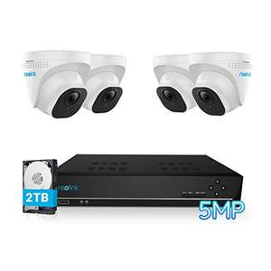 Reolink 4K NVR recorder with 4 x D500 5MP cameras CCTV Security Camera System for £296.79 delivered (Prime exclusive) @ Reolink EU / Amazon