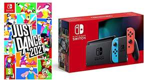 Nintendo Switch (Neon Red/Neon Blue) + Just Dance 2021 £284.99 (Prime Exclusive) @ Amazon