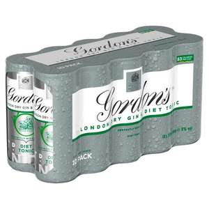 Gordons Gin & Tonic 10 x 250ml cans £4.99 @ The Food Warehouse Poole