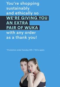 Get A Free Pair Of Wuka Period Pants Basic Medium Flow With Any Purchase @ Wuka