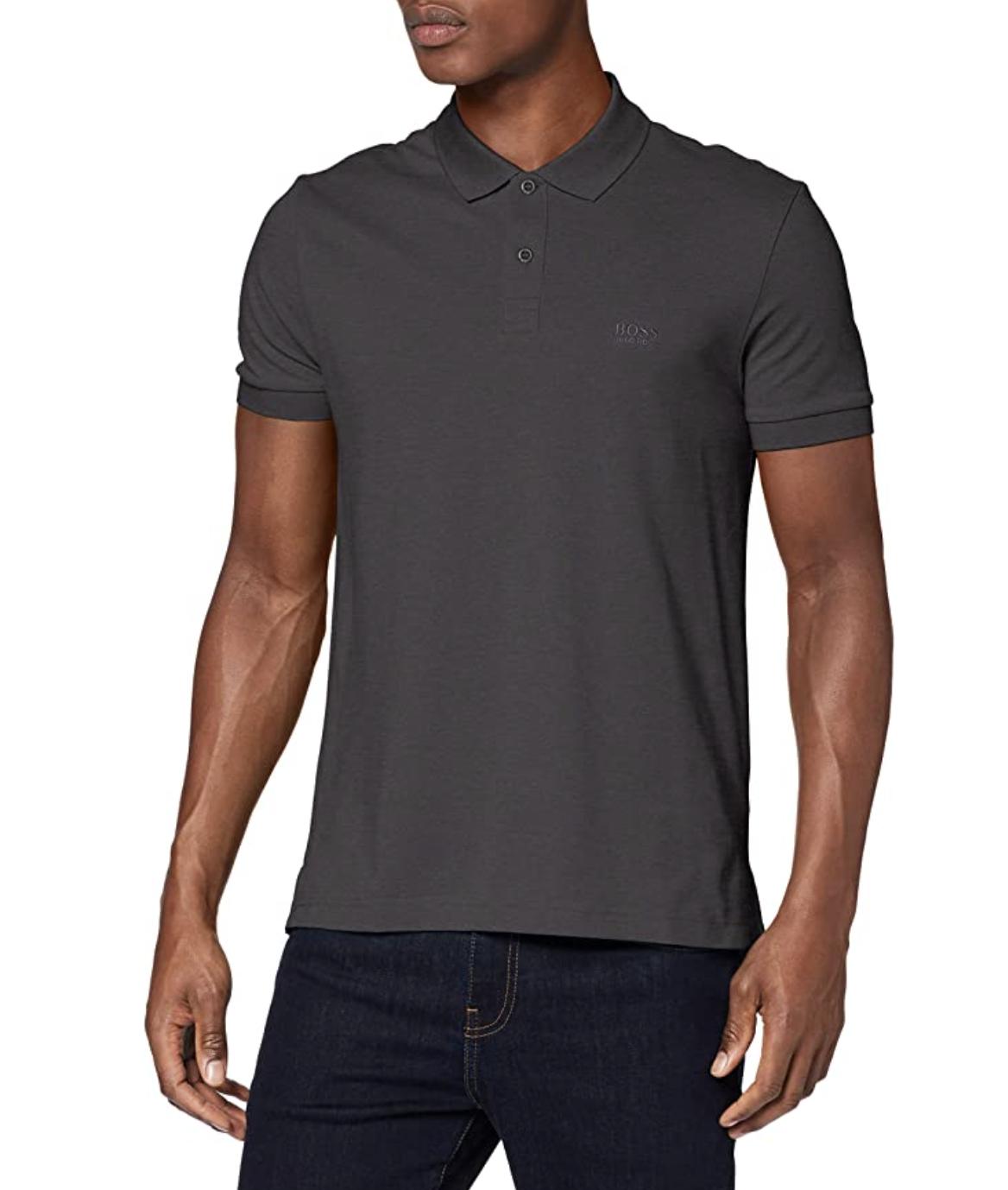 BOSS Men's Piro Polo Shirt Grey, XS - £12.42 Amazon Prime Exclusive @ Amazon