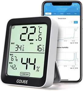 Govee Bluetooth Room Thermometer Hygrometer £9.79 (Amazon Prime Exclusive) Sold by Govee UK and Fulfilled by Amazon