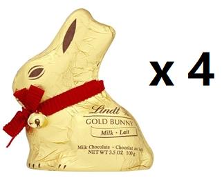 4 x 100g Lindt Bunny £2.99 (BB Aug 2021) @ Lindt Store Clarks Village