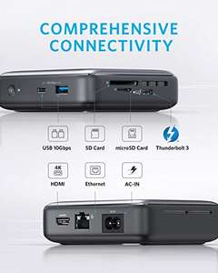 Anker Docking Station, PowerExpand 7-in-1 Thunderbolt 3 Mini Dock for USB-C Laptops, Max 45W - Sold by AnkerDirect and Fulfilled by Amazon.