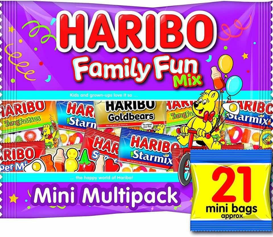 Haribo Family Fun Mix 21 Mini Packs are 99p @ Farmfoods Chadderton