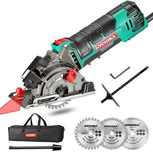 Mini Circular Saw, HYCHIKA Circular Saw with 3 Saw Blades 500W £38.15 Amazon Prime Exclusive Sold by JJmouse_toolkit and Fulfilled by Amazon