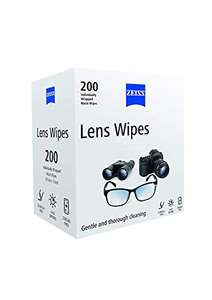ZEISS lens wipes - pack of 200 £7.99 (Amazon Prime exclusive) @ Amazon