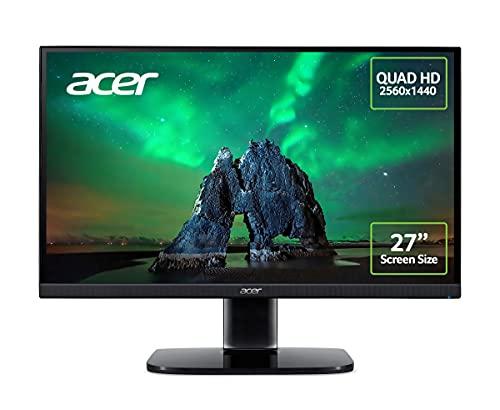 "Acer KA272Ubiipx 27"" Quad HD Monitor IPS Panel FreeSync 75 Hz 1ms DP (Used-like new) Amazon Prime Exclusive £147.88 @ Amazon Warehouse"