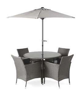 Aldi Rattan Effect Furniture 6 Piece Set (dining table, 4 chairs, parasol) - £229.99 (+£9.95 Delivery) @ Aldi
