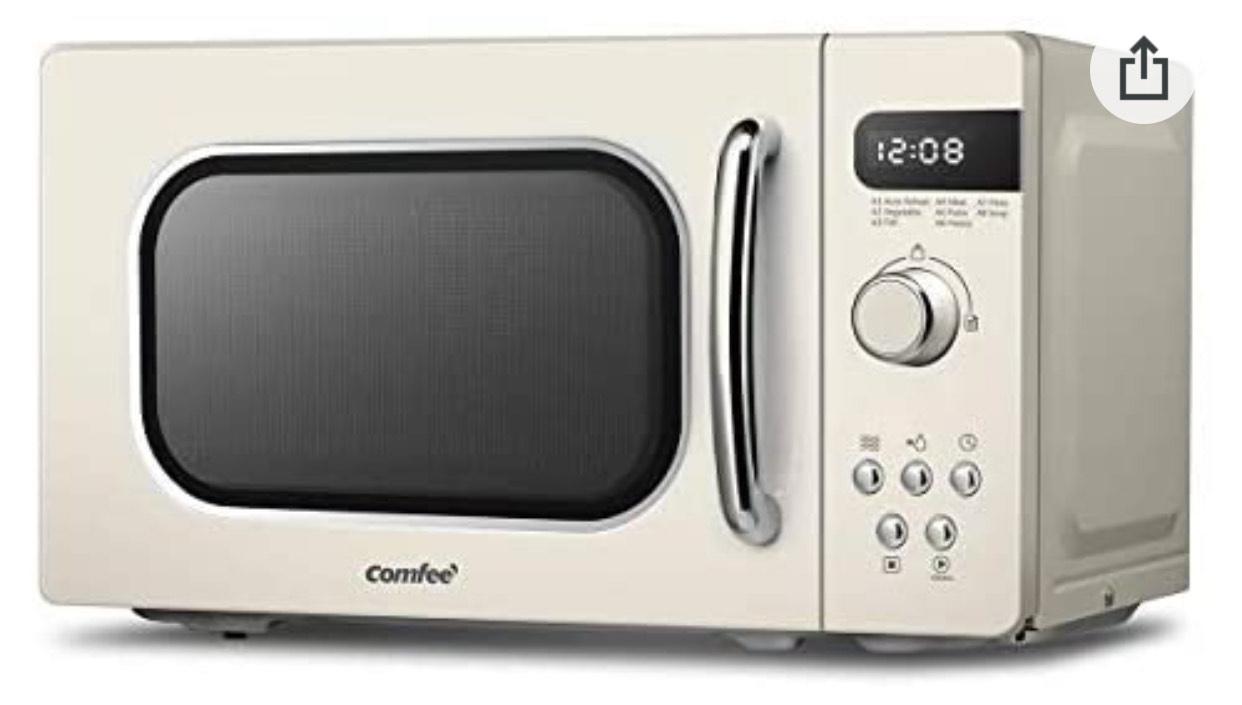 COMFEE' Retro Style 800 w 20 L Microwave Oven Apricot Cream - £49.99 (Amazon Prime Exclusive) @ Amazon