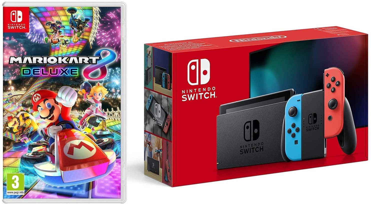 Nintendo Switch Neon with Mario Kart 8 Deluxe £289 Amazon Prime Exclusive @ Amazon