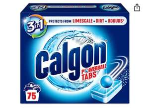 Calgon 3-in-1 Washing Machine Water Softener Tablets, 75 Tabs £10.99 Amazon Prime Exclusive