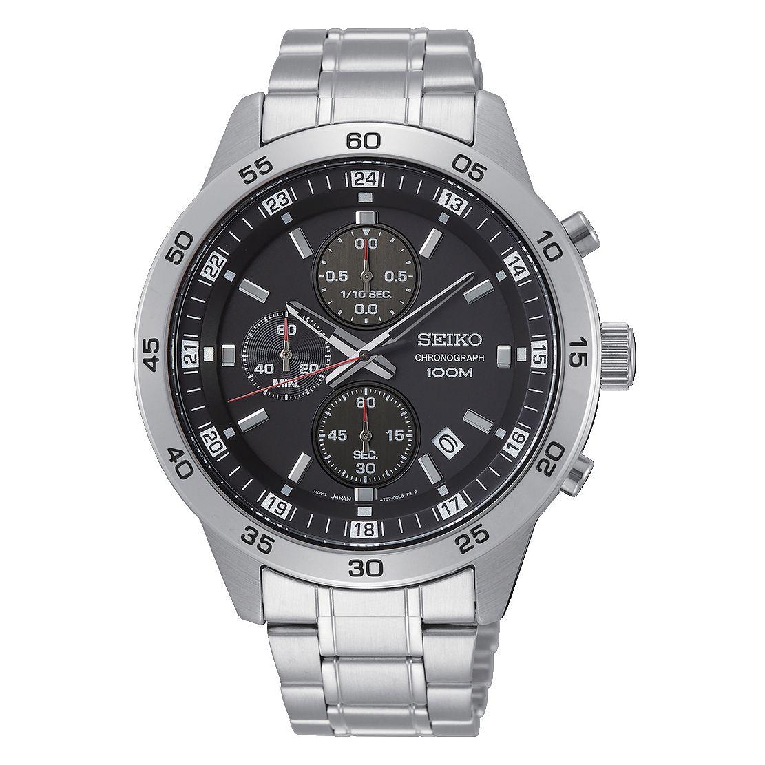 Seiko Chronograph Men's Stainless Steel Bracelet Watch £74.99 @ H Samuel