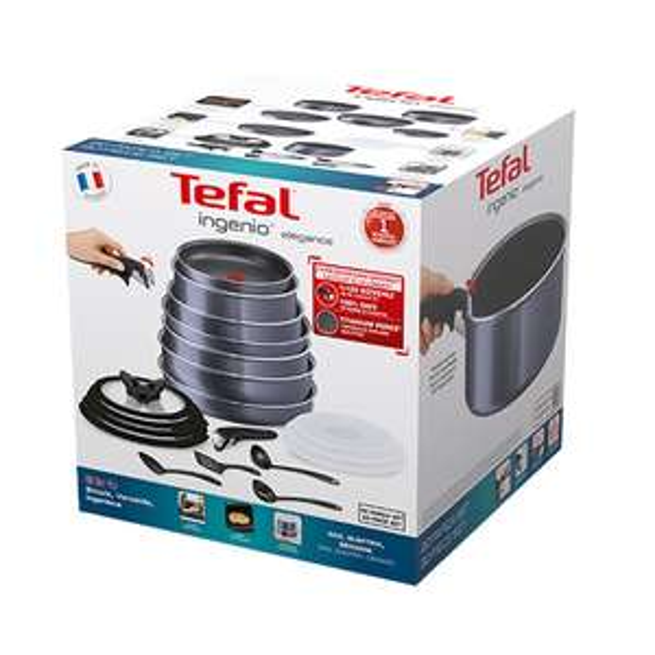 Tefal Ingenio Elegance 20 Piece Pan Set - Sparkling Grey £130 with code @ Tefal Shop