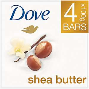 Dove Shea Butter Soap Bars 4 x100g (Pack of 6 = 24 Bars) Amazon Prime Deal £8.40 at Amazon