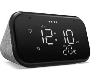 Lenovo Smart Clock Essential with Google Assistant £19.99 + Google Nest Mini (2nd gen) with code = £29.99 @ Currys PC World