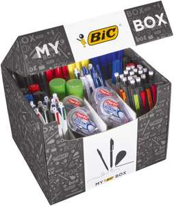 My BIC Box Stationery Gift Set and Variety Pack - Box of 124 Essential Stationary Products in Convenient Box £37.99 @ Amazon Prime Exclusive