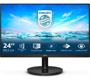 """PHILIPS 242V8A 23.8"""" FHD IPS Fressync 75Hz Speakers Monitor, £89.99 at Currys PC World"""