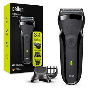 Braun Series 3 Shave & Style 300BT 3-in-1 Electric Shaver, Razor for Men with Beard Trimmer & Combs £33.99 Amazon Prime Exclusive