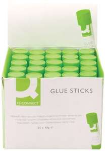 Q-Connect Glue Stick, 10 g, Pack of 25 - £3.49 delivered (Prime Exclusive) @ Amazon