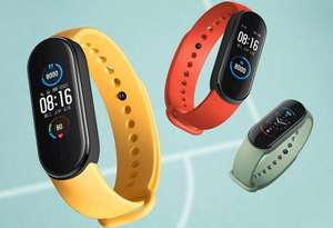 Amazfit Band 5 Smart Band & Fitness Tracker - Olive / Orange & Black Available £19 Free Click & Collect at Argos
