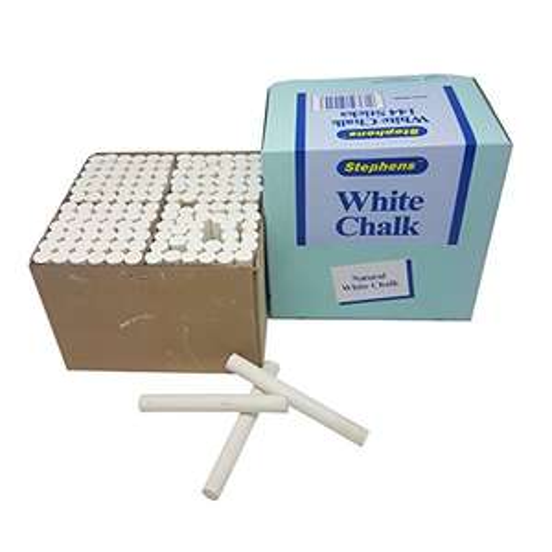 Stephens 144 Pack of White Chalk £2.97 (+ £4.49 nonPrime) @ Amazon