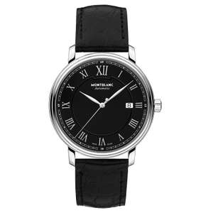 Montblanc Men's Black Leather Strap Watch 116482 - £973.25 with code at Ernest Jones