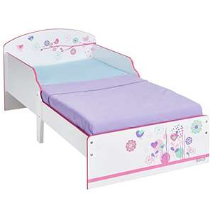 Flowers and Birds Kids Toddler Bed by HelloHome £73.99 Prime Exclusive @ Amazon