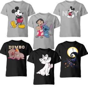 Kid's Disney T-Shirts - Dumbo / Mickey / Pluto / Lion King / Little Mermaid & Loads More - £6.99 Each + Free Delivery @ IWOOT