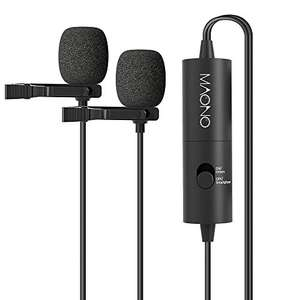 Dual Lavalier Microphones, MAONO AU200 Hands Free Clip-on Lapel Mic - used like new £3.42 Amazon Warehouse Prime Offer