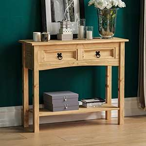 Movian Corona two drawer console table with shelf, Solid Pine Wood (70 x 83 x 31 cm) for £34.99 delivered (Prime only) @ Amazon