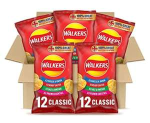 Walkers Classic Variety Multipack Crisps Box (60 Single Bags) £8.70 Amazon Prime Exclusive