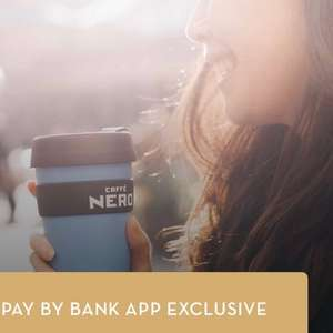 Pay by Bank for a Buy One Get One Free Voucher - two coffees for £3 at Caffè Nero with App