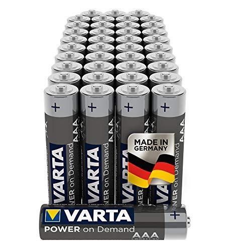 40 pack - VARTA Power on Demand AAA Micro or AA Mignon Batteries - £9.29 Amazon Prime Exclusive