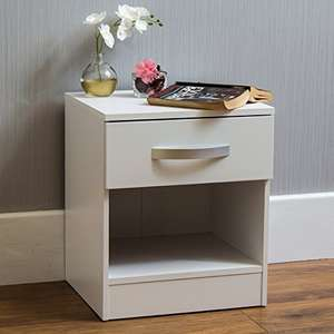 Movian Bedside Cabinet (47 x 40 x 36 cm) with one drawer in white, walnut/white, or walnut/black for £19.99 delivered (Prime only) @ Amazon