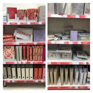 Stationery sale - files 20p, pencil packs 30p at Wilko Wigan