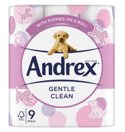 9x Andrex toilet tolls 15p Wilko Wrexham store
