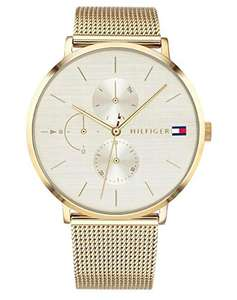 Tommy Hilfiger Jenna 1781943 women's multi dial quartz watch with gold plated strap for £115.89 delivered using code @ Amazon