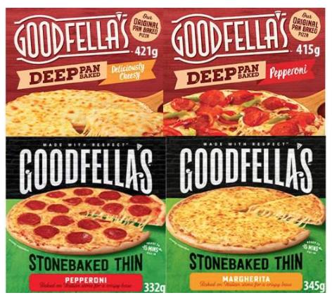 Goodfella's Original Thin / Deep Pan Pizzas £1 each at Farmfoods