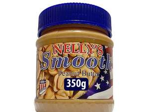 Nelly's Smooth Peanut Butter 350g for 69p/ 160g Fox's Favourites Cookies for 79p @ Farmfoods