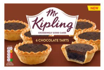 Mr Kipling 6 Chocolate Tarts And 6 Vinesse Whirls 85p @ Asda