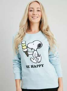 Snoopy Blue 'Be Happy' Sweatshirt Now £8.00 with Free Click and collect from Argos