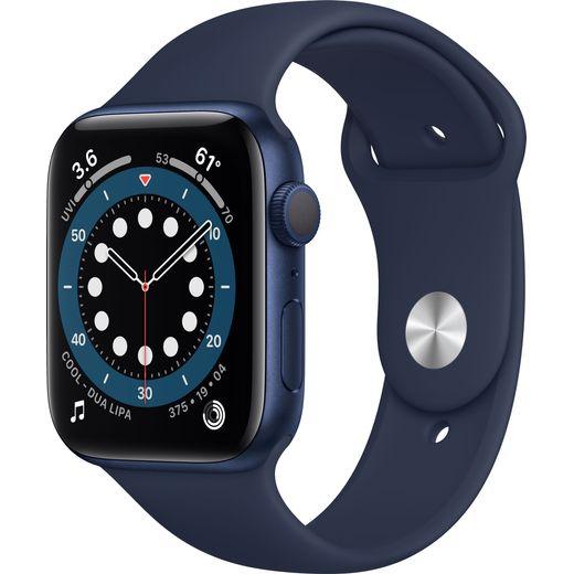 Apple Watch Series 6, 44mm, GPS (2020) - Blue Aluminium Case with Deep Navy Sport Band - £299 / (£289 w/code new account) (UK mainland) @ AO
